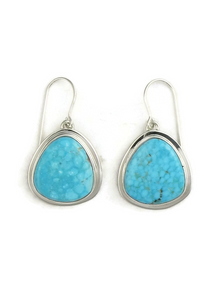 Kingman Turquoise Earrings by Lyle Piaso
