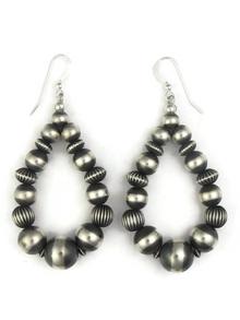 Sterling Silver Bead Loop Earrings (ER3807)