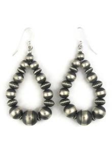 Sterling Silver Bead Loop Earrings (ER3808)