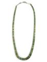 """Green Kingman Turquoise Heishi Necklace 18"""""""
