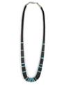 "Jet & Turquoise Heishi Necklace 20"""