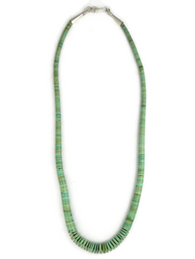 Green Kingman Turquoise Heishi Necklace 19""
