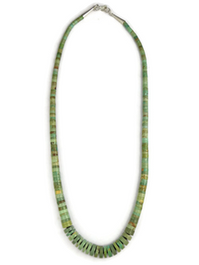 Green Turquoise Heishi Necklace 20""