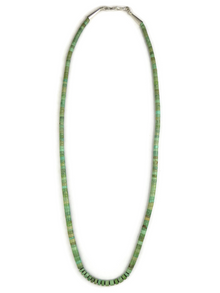 Green Turquoise Heishi Necklace 20 3/4""