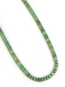 """Green Turquoise Heishi Necklace 20 3/4"""""""