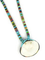 Mosaic Inlay Clam Shell Necklace by Ronald Chavez