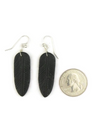 Jet Feather Slab Earrings by Ronald Chavez (ER3813)