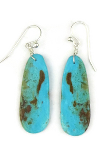 Turquoise Slab Earrings by Ronald Chavez (ER3814)