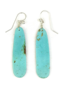 Turquoise Slab Earrings by Ronald Chavez (ER3815)