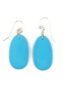 Turquoise Slab Earrings (ER3818)