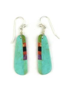 Turquoise Inlay Slab Earrings (ER3830)