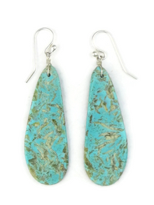 Turquoise Slab Earrings (ER3837)