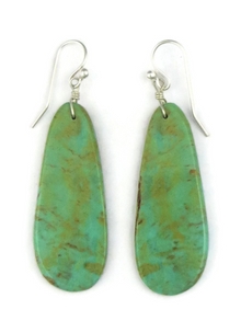 Turquoise Slab Earrings (ER3845)
