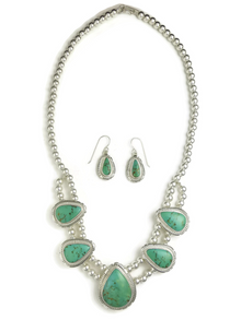 Royston Turquoise Necklace & Earring Set by Ruby Curley