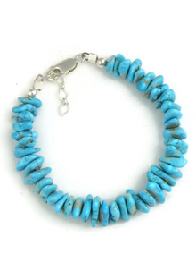 Turquoise Nugget Bracelet Adjustable Length