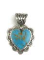 Kingman Turquoise Heart Pendant by Elgin Tom