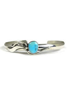 Sleeping Beauty Turquoise Bracelet by Les Baker Jewelry (BR6019)