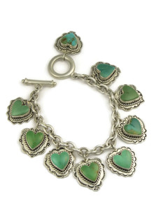 Turquoise Heart Charm Bracelet by Murphy Platero - Small
