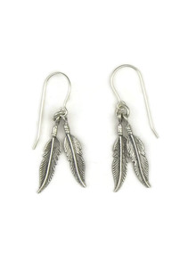 Silver Feather Earrings (ER3921)