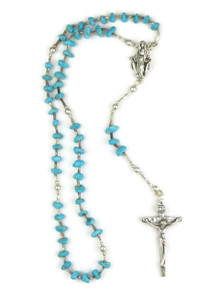 """Turquoise Rosary Beads 12 1/2"""""""