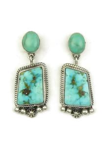 Kingman Turquoise Earrings by Geneva Apachito