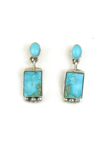 Kingman Turquoise Earrings by Geneva Apachito (ER3931)