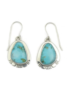 Kingman Turquoise Earrings by Phillip Sanchez (ER3446)