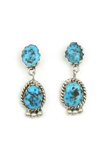 Sleeping Beauty Turquoise Earrings by Brenda Etsitty