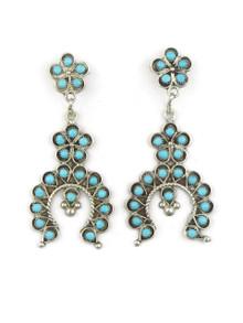 Turquoise Naja Earrings by Zuni Eilene James