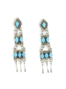 Turquoise Dangle Earrings by Zuni Priscilla Chavez