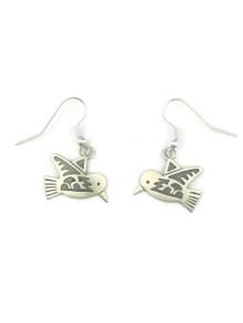 Silver Hummingbird Earrings by Robert Gene