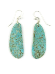 Turquoise Slab Earrings by Ronald Chavez (ER3467)