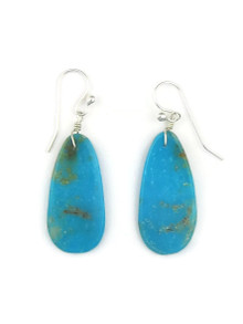 Turquoise Slab Earrings by Ronald Chavez (ER3471)