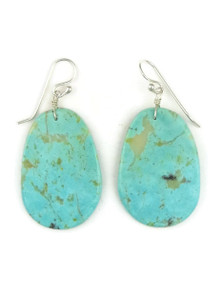 Turquoise Slab Earrings by Ronald Chavez (ER3474)