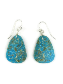 Turquoise Slab Earrings by Ronald Chavez (ER3477)