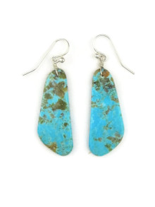 Turquoise Slab Earrings by Ronald Chavez (ER3483)