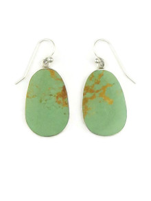 Silver & Turquoise Slab Earrings by Ronald Chavez (ER3488)