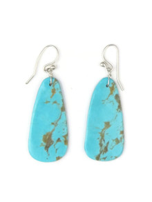 Turquoise Slab Earrings by Ronald Chavez (ER3490)