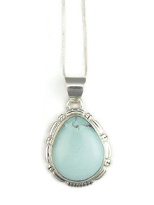 Dry Creek Turquoise Pendant by Lydia Yazzie (3815)
