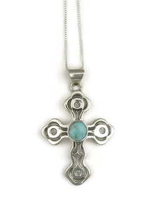 Dry Creek Turquoise Cross Pendant (3817)