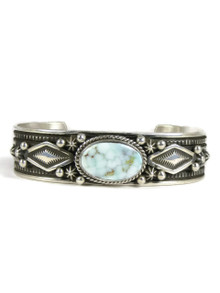 Dry Creek Webbed Turquoise Bracelet by Happy Piaso (BR4718)