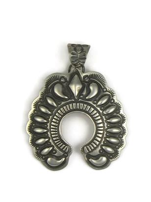 Handmade Silver Naja Pendant by Darryl Becenti