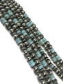 Dry Creek Turquoise & White Water Turquoise Cross Necklace Set by Darryl Becenti