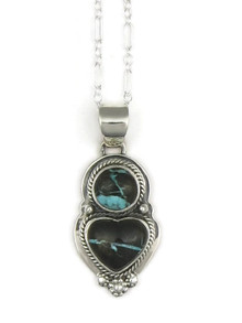 Boulder Turquoise Heart Pendant by Lucy Valencia (PD3346)
