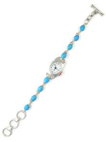 Sleeping Beauty Turquoise Link Watch Bracelet
