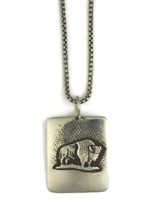 Silver Buffalo Pendant