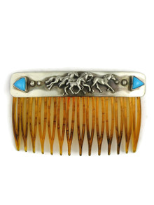 Sleeping Beauty Turquoise Running Horse Hair Comb