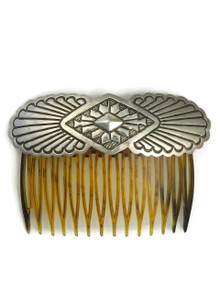 Hand Stamped Silver Hair Comb
