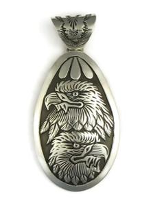 Silver Eagle Pendant by Freddy Charley