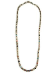"Clam Shell & Gemstone Heishi Necklace 18 3/4"" (NK4467)"